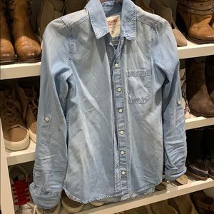 Button down chambray shirt from target XS